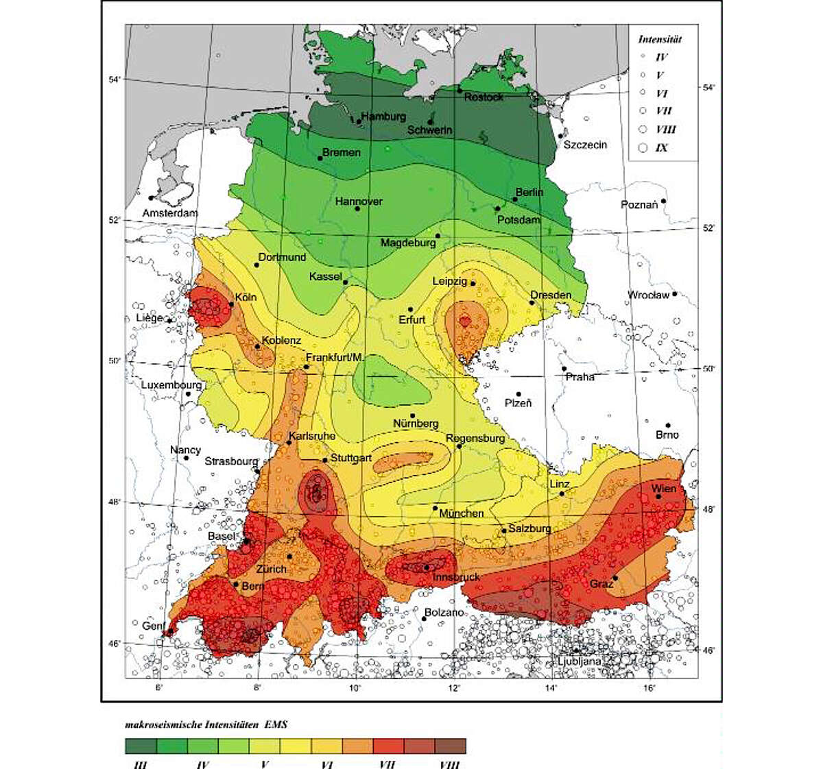 karte erdbebenzonen deutschland Erdbebengefährdung in Deutschland   ESKP