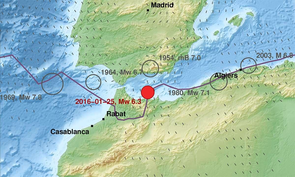 Meerenge Von Gibraltar Karte.Erdbeben In Der Strasse Von Gibraltar Eskp