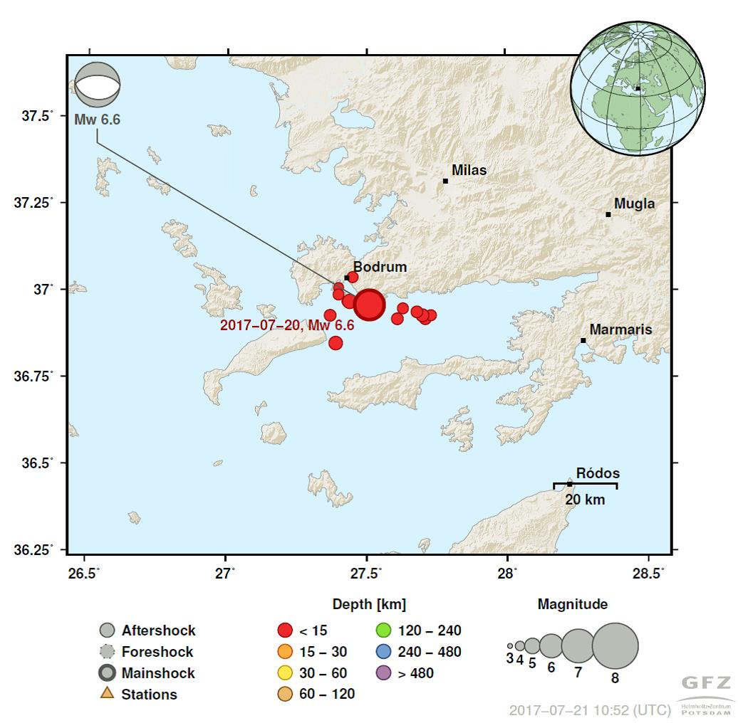 Bodrum Karte.Erdbeben Vor Bodrum Und Kos In Der Ostägäis Eskp