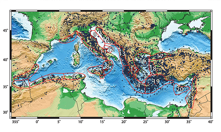 Tsunami hazard regions in the Mediterranean region - ESKP